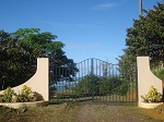 entrance gate to private access road